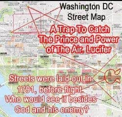 Laid out by the Freemason George Washington a Christian Brother to catch a thief and a liar.