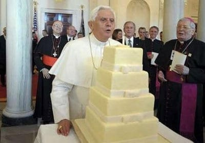 Birthday in the White House all bought and paid for. Kudo's on the shape of that cake BTW.